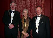 Stuart Blackie, President, Medical Society of London; Sally Gordon-Boyd, President, Harveian Society of London and Ian Stephen, President, Hunterian Society